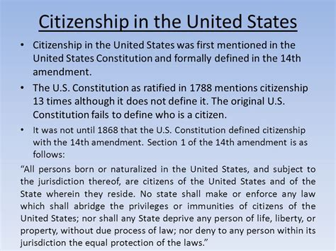 what does section 3 of the 14th amendment mean citizenship a citizen is one who has specific rights and