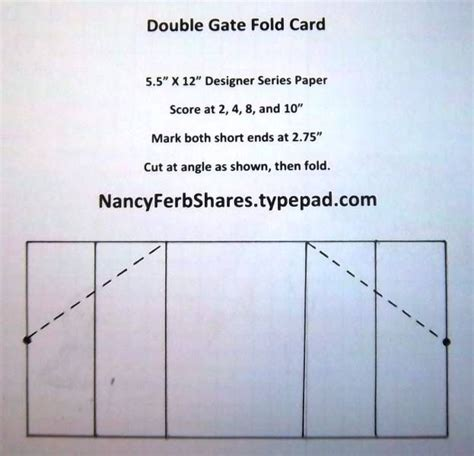 Accordion Gate Fold Card Template by Pin By Virginia Montes On Cards Shapes