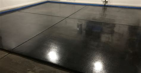 Garage Floor Charcoal Stain and Concrete Coating   Young