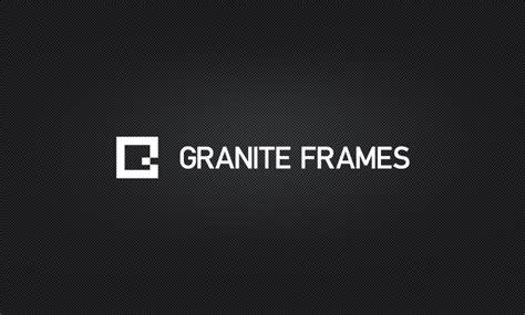 frame design company granite frames logo design allur