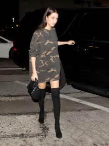 bella hadid goes pantless in yeezy season 1 vogue