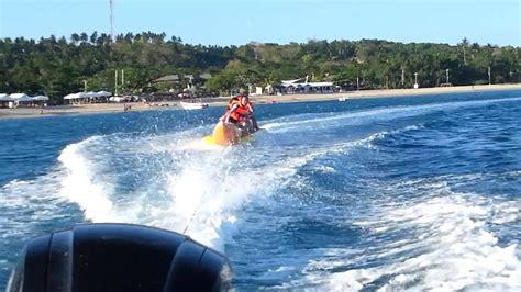 banana boat ride youtube speed boat and banana boat ride laiya batangas youtube