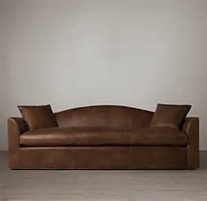 Camelback Leather Sofa Belgian Camelback Leather Sofa