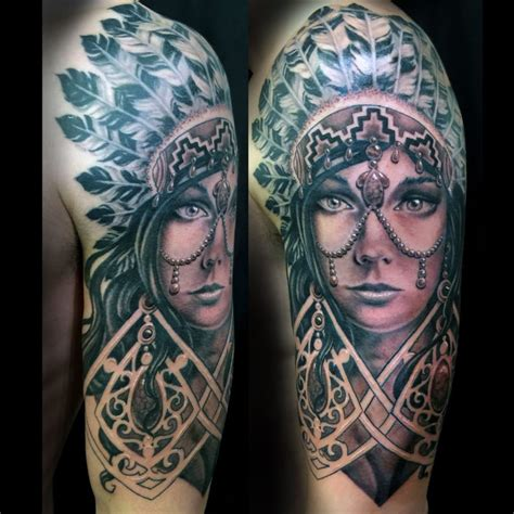 aztec woman tattoo to the needle gallery and artist exles