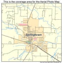 aerial photography map of springtown tx
