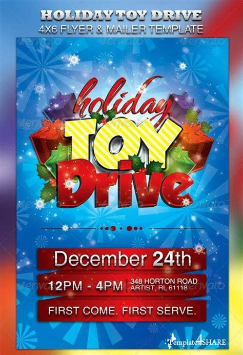 Toy Drive Flyer Ideas Ktunesound Drive Flyer Template Free