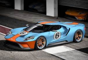 rendering new ford gt in gulf livery
