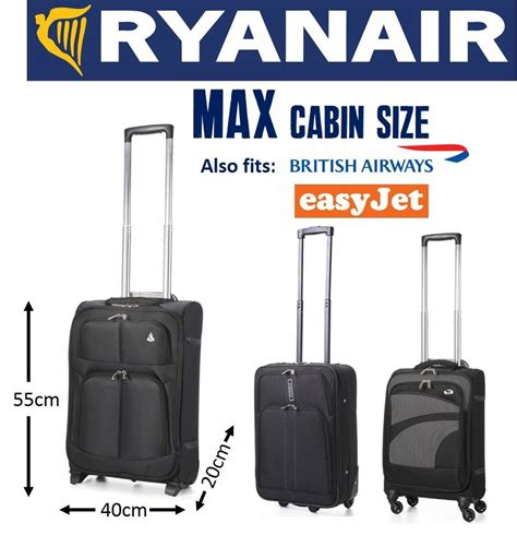 55x40x20 cabin bag aerolite 5 cities ryanair max carry on cabin