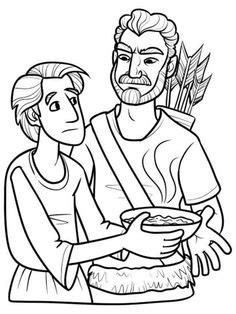 jacob and esau twins coloring page complete jacob and esau lessons with crafts worksheets