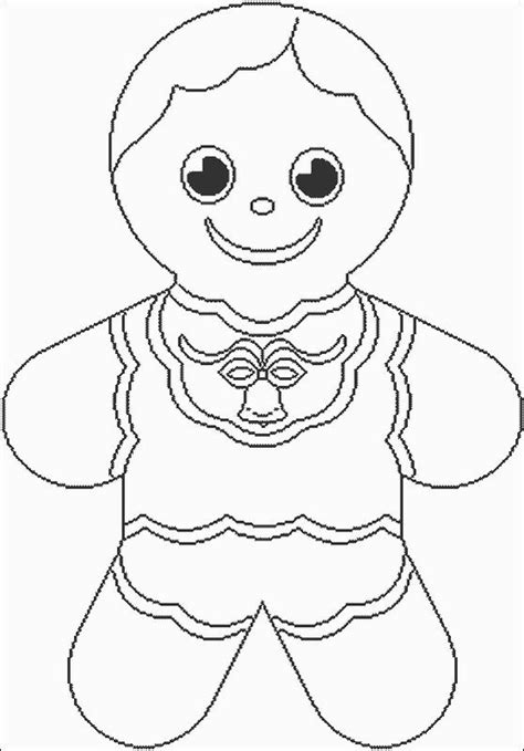 coloring page gingerbread boy large gingerbread boy coloring page