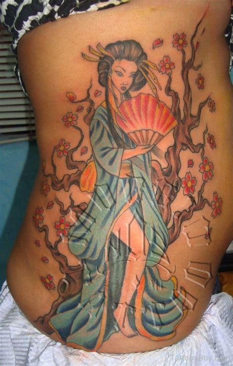 geisha girl tattoo ribs geisha tattoo images designs