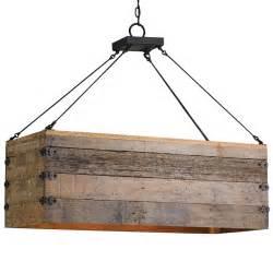 Lodge rectangular wood cart 3 light island pendant kathy kuo home