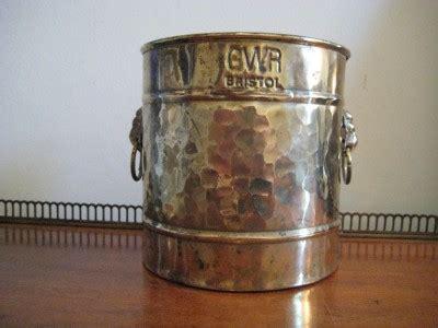 Bristol Brass Planter by Antique Gwr Great Western Railway Bristol Brass Lions
