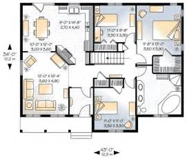 house plans 3 bedroom 1339 square 3 bedrooms 1 batrooms on 1 levels