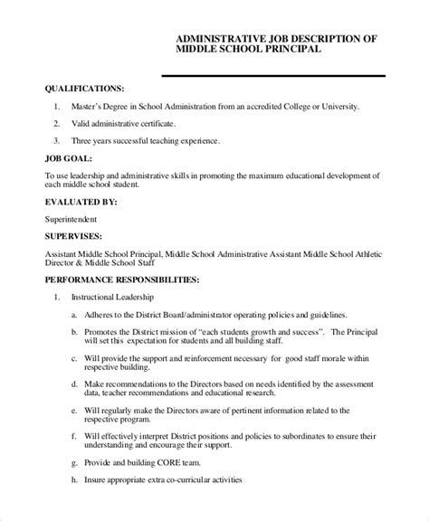 sle administrative assistant description 8