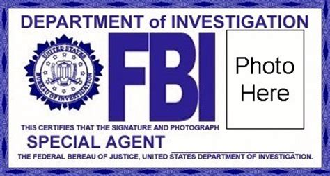 fbi badge template character dossiers