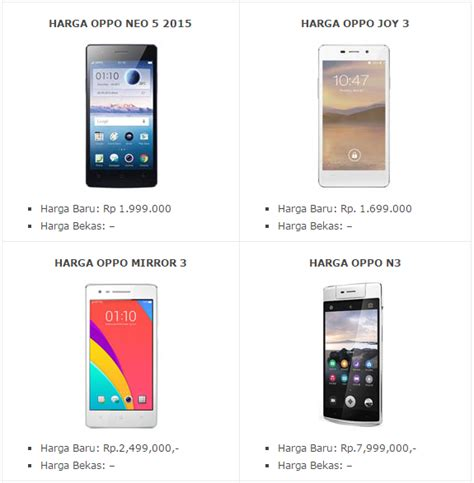 Hp Oppo Q update harga hp android oppo terbaru desember 2015