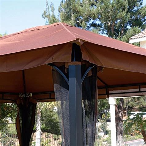 8 X 10 Patio Gazebo Awardpedia 10 X 12 Regency Ii Patio Gazebo With Mosquito