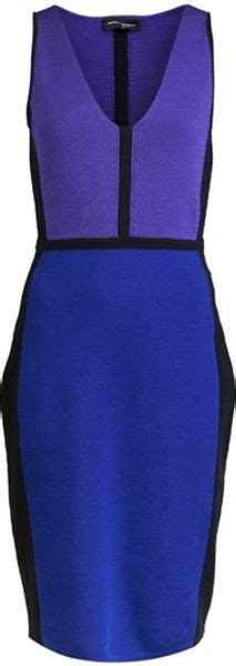 Who Wore It Better Narciso Rodriguez Lavender Tie Dress by Narciso Rodriguez Color Block Dress In Purple Lyst