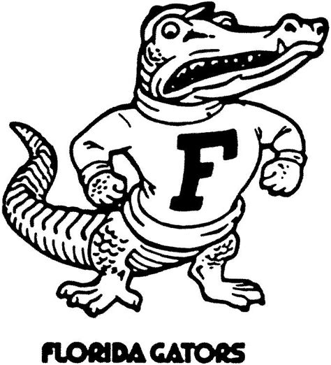 florida gator coloring pages free download www