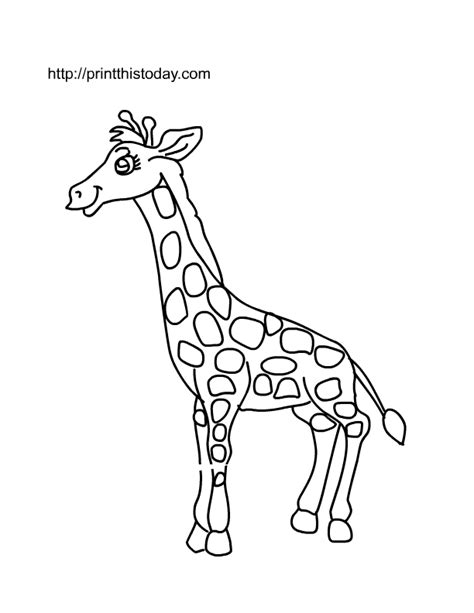giraffe printable template animal templates printable coloring home