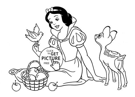 princess house coloring pages disney princess snow white with animals coloring page for