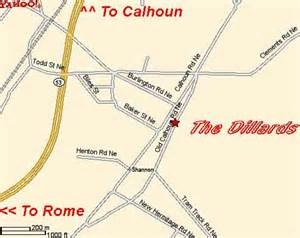 dillard map dillards park