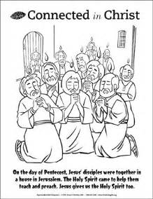 coloring page pentecost connected in coloring page pentecost downloadable
