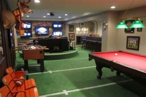 football field carpet basement caves