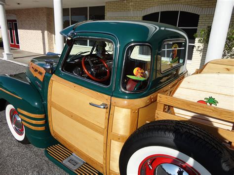 1950 chevrolet 3100 custom woody retro interior f