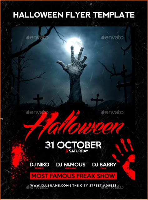 halloween templates for flyers free 7 halloween flyer templates bookletemplate org
