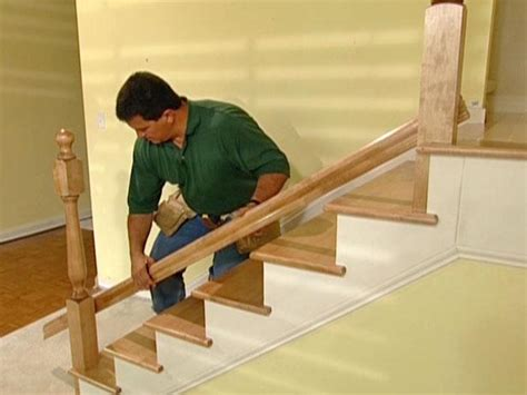 Building A Banister On A Staircase How To Install New Stair Treads And Railings How Tos Diy