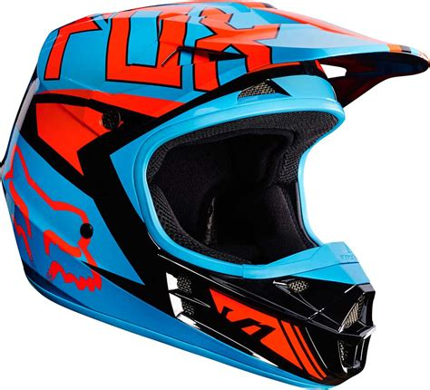 2017 Fox Racing V1 Falcon Helmet Mx Motocross Off Road
