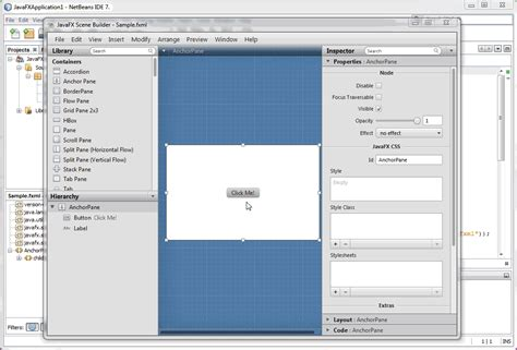 javafx tutorial netbeans using javafx scene builder with java ides using scene