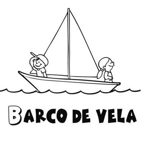 barco para dibujar facil dibujo de barco de vela para colorear