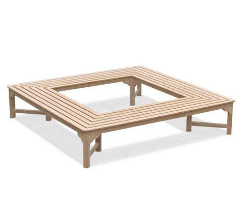 backless teak bench teak backless square tree bench 2 2m