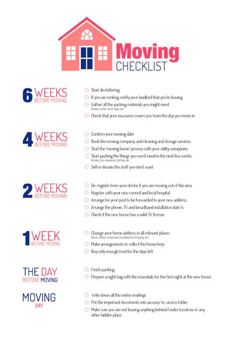moving house to do list template moving checklist soul