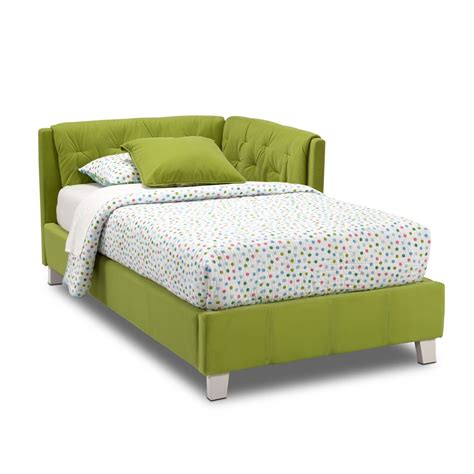 green bed jordan twin corner bed green american signature furniture