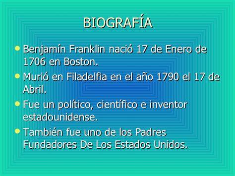benjamin franklin biography en espanol benjamin franklin y el pararrayos