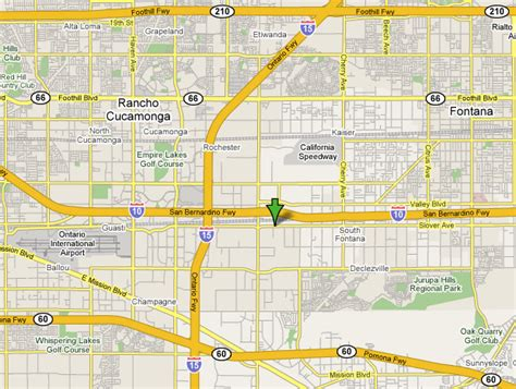map of fontana ca fontana california map