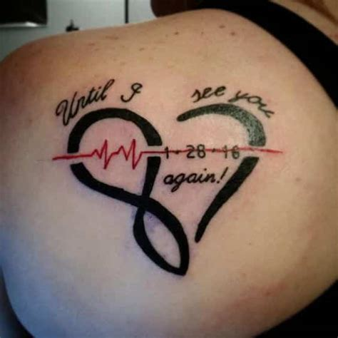 heartbeat tattoo until i see you again heartbeat tattoos for men ideas and inspiration for guys