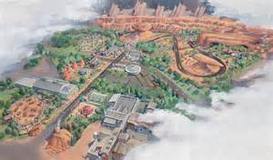 california adventure map with cars land look a drive through cars land transports