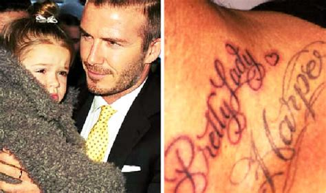 beckham tattoo pretty lady david beckham adds sweet tattoo for his daughter harper