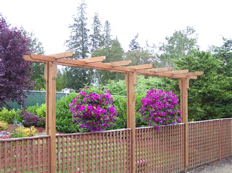 Fence Hanging Planters by Diy Simple Pergola Ideas Wooden Pdf Online Download Wood