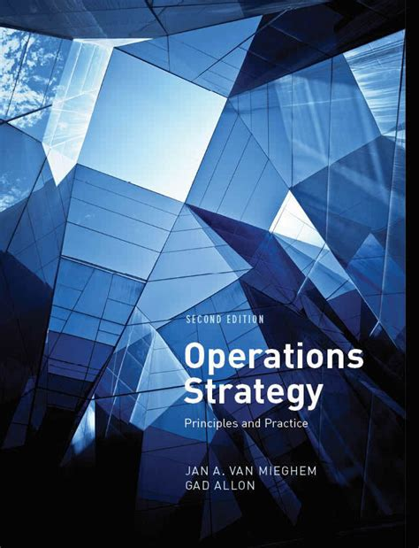 operations strategy 5th edition books jan a mieghem
