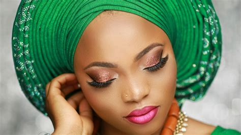 bridal gele on the you tube nigerian bridal makeup tutorial pleated gele youtube