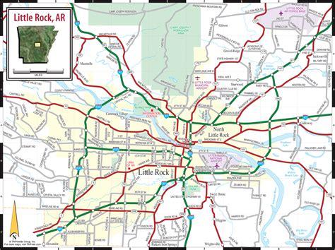 printable road map arkansas little rock ar map