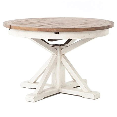 whitewashed round dining table barnes modern classic round wood whitewash extension