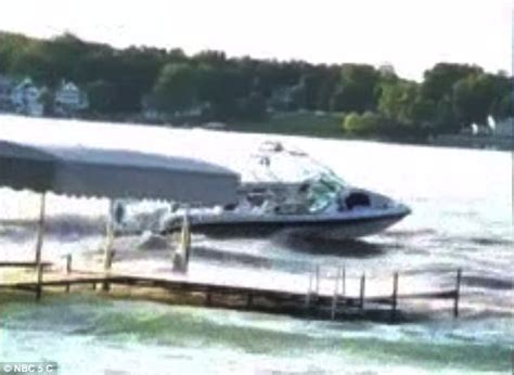 lake gage indiana boat accident runaway boat on lake gage slams into another vessel