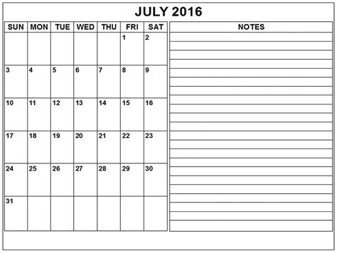 generic calendar template july 2016 weekly calendar blank templates printable
